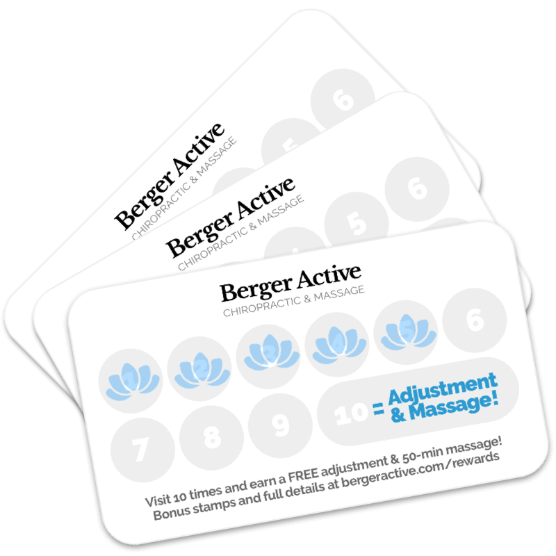 Berger Active Rewards Cards